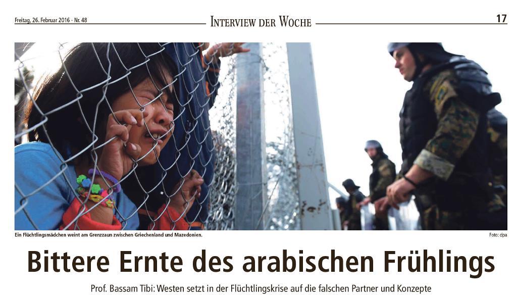 """""""Bittere Ernte des arabischen Frühlings"""": Interview mit der Landeszeitung Lüneburg"""