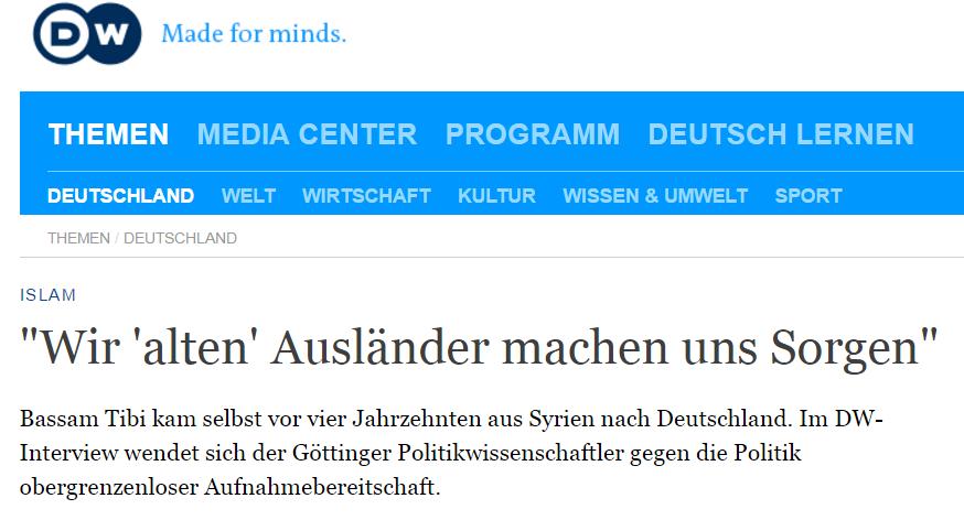 """""""Wir 'alten' Ausländer machen uns Sorgen"""": Interview mit der Deutschen Welle"""