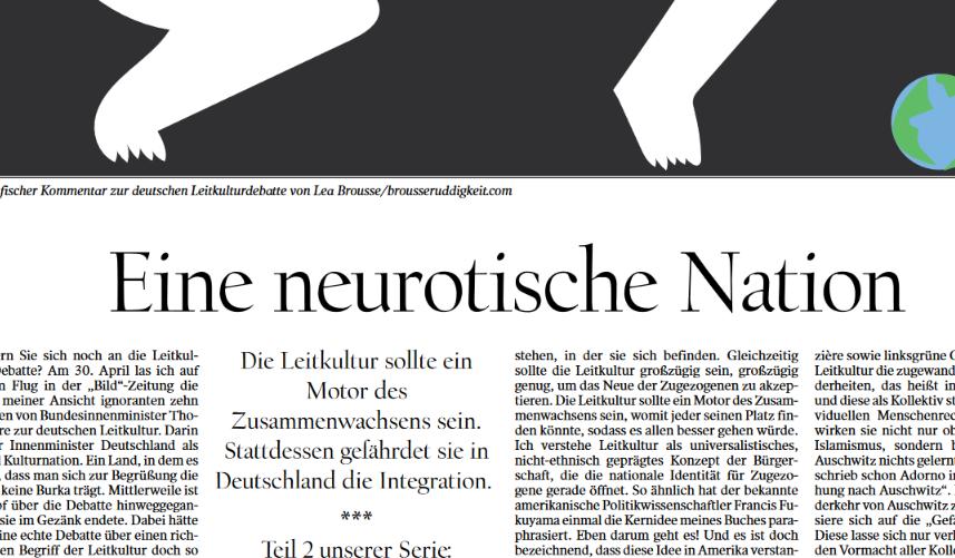 Wie neurotisch Deutsche über das Konzept der Leitkultur diskutieren: Artikel im Tagesspiegel